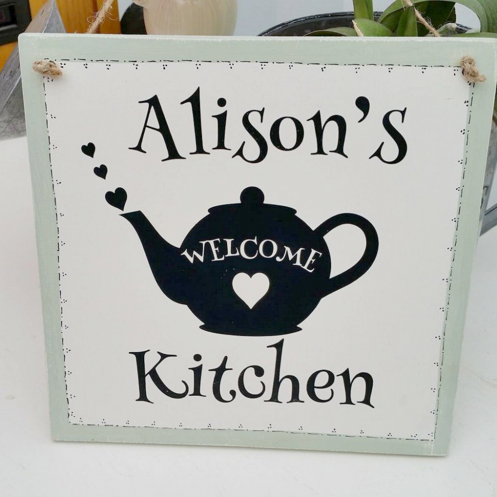 Wooden Handmade Personalised Kitchen Plaque